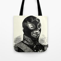 wrestling Tote Bags featuring Wrestling mask 2 by DIVIDUS DESIGN STUDIO