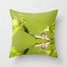 A little mouse Throw Pillow