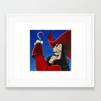 hook Framed Art Prints featuring Hook by Laura-A