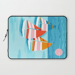 Popin - memphis sports retro throwback neon sailing sailboat cool rad gnarly trendy watersports Laptop Sleeve