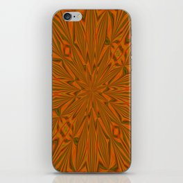 Autumnal Leaves Red Green and Amber Abstract Kaleidoscope iPhone Skin