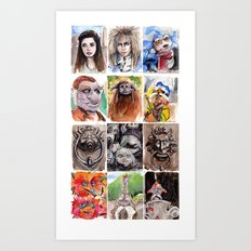 Labyrinth Cast Art Print