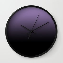 Purple Black Blend Design Wall Clock