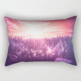 Red Sun, Purple Dream Rectangular Pillow