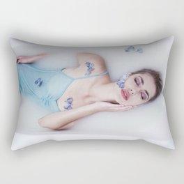 Girl in milk bathe Rectangular Pillow