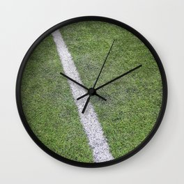 Sideline football field, Sideline chalk mark artificial grass soccer field Wall Clock