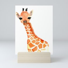 Watercolor Giraffe Mini Art Print