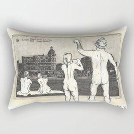 Nude Beach Rectangular Pillow