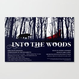 Into the Woods Poster Canvas Print