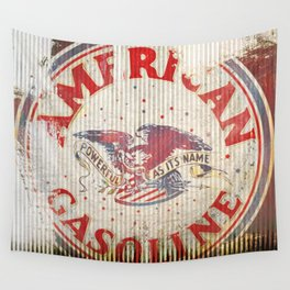 American Gasoline - Vintage Label Wall Tapestry