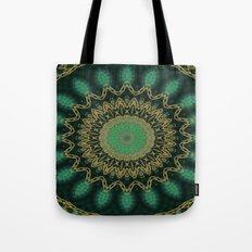 Golden Mandala (green) Tote Bag