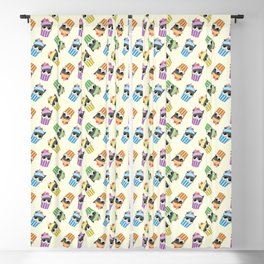cupcake kitty Blackout Curtain