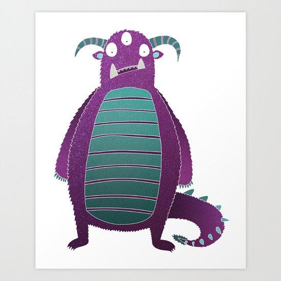 Marcus the Monster Art Print
