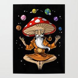 Buddha Magic Mushroom Poster