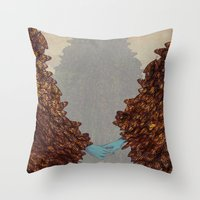 community Throw Pillows featuring Community by Rhea Ewing