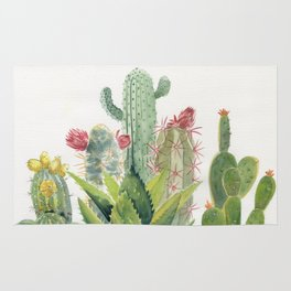 Cactus Watercolor Rug