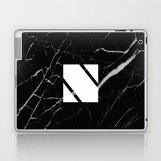 Black Marble - Alphabet N Laptop & iPad Skin