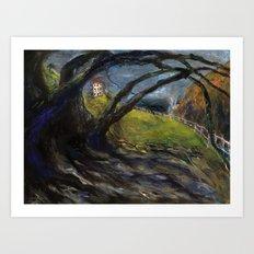 Grandpas Beach House (oil on canvas) Art Print