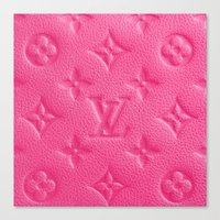 lv Canvas Prints featuring Pink LV by I Love Decor