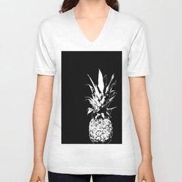 Pineapple Black and White #decor #society6 Unisex V-Neck