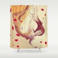 aurora Shower Curtains featuring Aurora by ssst