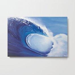 Ocean Wave Painting Metal Print