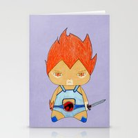 thundercats Stationery Cards featuring A Boy - Lion-O (Thundercats) by Christophe Chiozzi