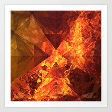 Into Mount Doom Art Print