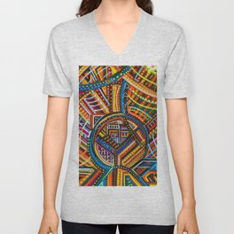 Another Light to Coney Island, Brooklyn NYC landscape by Joseph Stella Unisex V-Neck