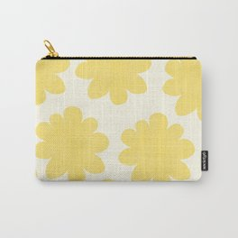 Yellow Flowers on Pale Yellow Carry-All Pouch