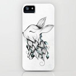 Poetic Rabbit iPhone Case