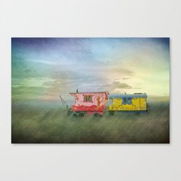 gypsy caravans Canvas Print