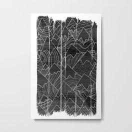 Paintbrush Mounts Metal Print