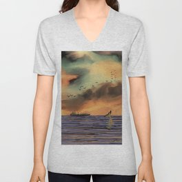 Sunrise in Byron Bay Unisex V-Neck