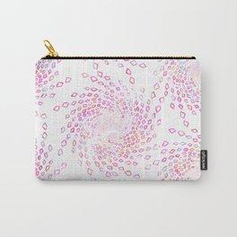 Modern pink aqua watercolor geometrical  diamond swirls Carry-All Pouch