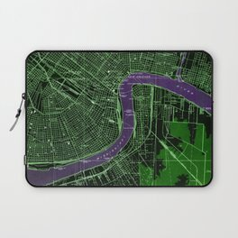 New Orleans Louisiana 1932 vintage old beautiful map Laptop Sleeve