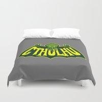 cthulhu Duvet Covers featuring Cthulhu by Buby87