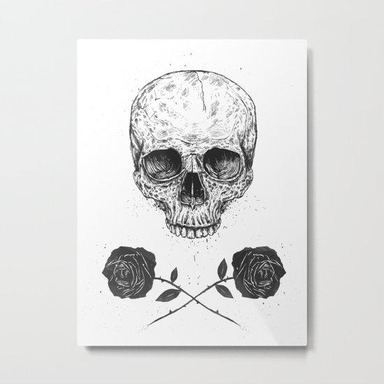 Skull N' Roses Metal Print