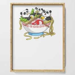 Ramen Kawaii Panda T-Shirt I Japanese Food Lover Serving Tray
