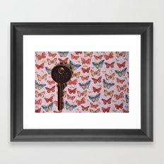 Love Key with Butterflies 2 Framed Art Print