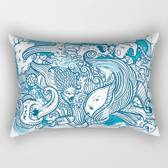 Random Doodle Rectangular Pillow