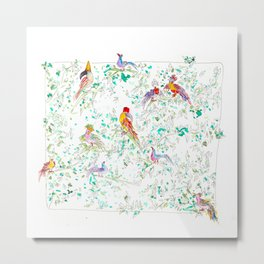 Jungle Bird Party Metal Print