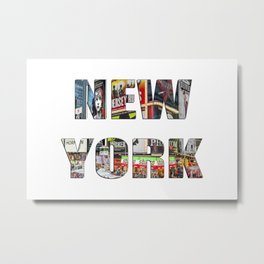 New York (typography) Metal Print