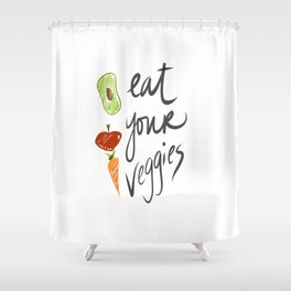 Eat Your Veggies Shower Curtain