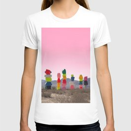 Seven Magic Mountains with Pink Sky - Las Vegas T-shirt
