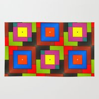 frames Area & Throw Rugs featuring Colorful Frames by Sara Dowling