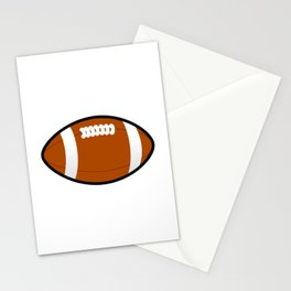 Ohio American Football Design white font Stationery Cards