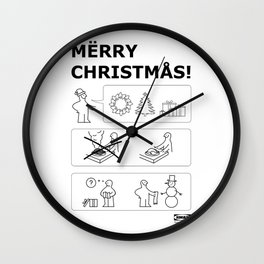 How To Have A Merry Christmas Wall Clock