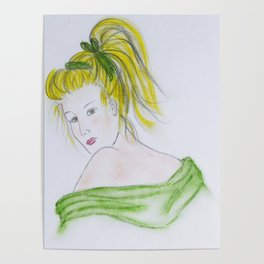 Girl in Green Poster