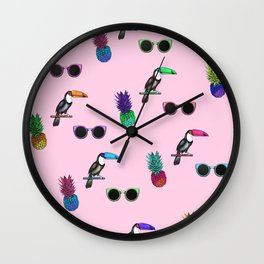 Tropical Print Take 2 Wall Clock